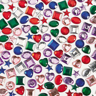 (Stick On Rhinestones Self Adhesive Crystals Gems Jewels Multi Colors Sticker Lot)