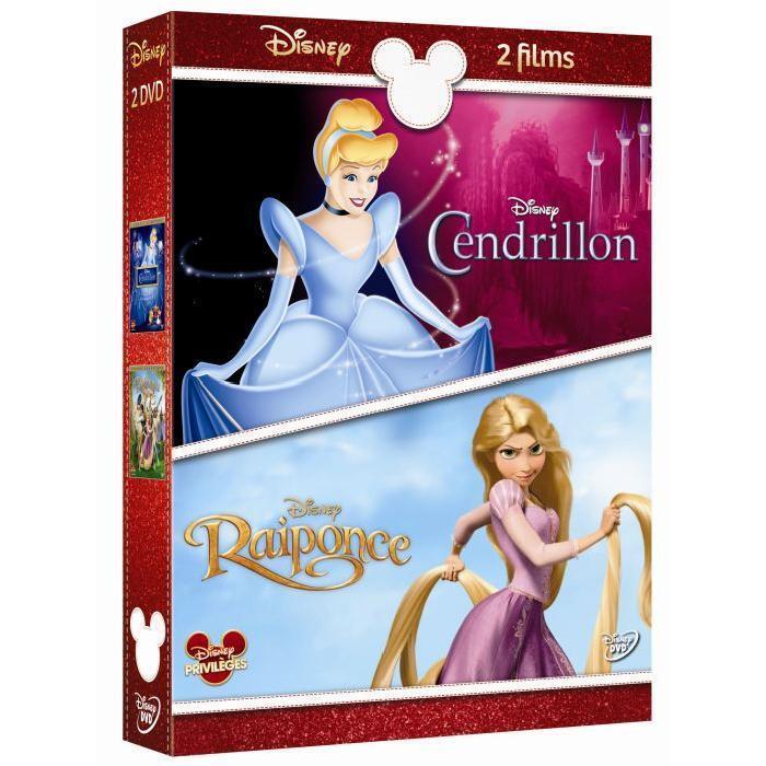 Coffret DVD CENDRILLON + RAIPONCE