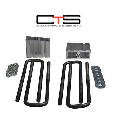 "99-06 Chevy GMC Sierra Silverado 4"" Rear Lift Blocks Kit 4x4 Ubolt ""C"""
