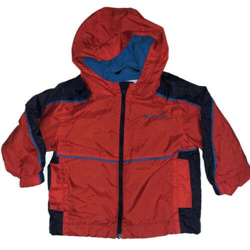 Columbia 18 Months Toddler Jacket Lightweight Red Zip Up Hood Pockets