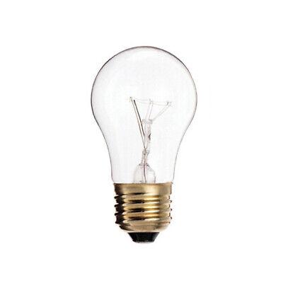 2 Pack - Satco S3948 15W 130V A15 Clear E26 Medium Base Incandescent Bulb 130v A15 E26 Medium Base