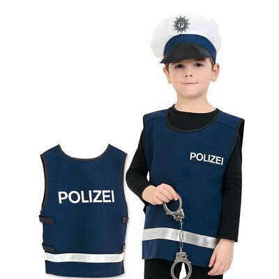 m Weste für Kinder ideal für Karneval, verschieden Größen (Polizei Kostüm Kind)