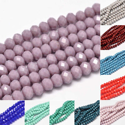 10 strand Faceted Round Glass Bead Strands Multi Color DIY Craft Accessories 8mm