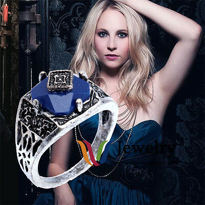 New Vampire Diaries Carolines Daylight Lapis Classical Wedding Ring Engagement