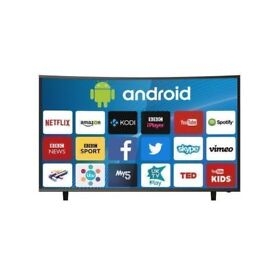 """ELECTRIQ 55"""" CURVED 4K ULTRA HD LED ANDROID SMART TV WITH FREEVIEW HD- INCLUDES FREE DELIVERY - £475"""