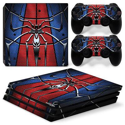 PS4 Pro Playstation 4 Console Skin Decal Sticker SpiderMan Hero Custom Design