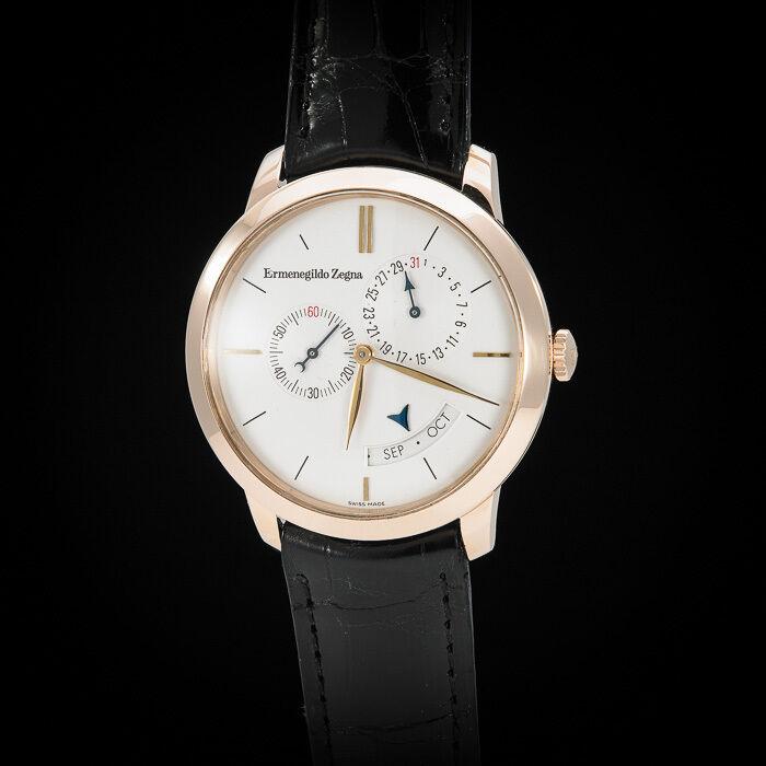 "Girard Perregaux 18K RG 1966 ""Zegna Centennial"" Annual Calendar. Ltd Ed of 100 - watch picture 1"