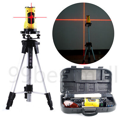 Laser Level  Self-Levelling Cross Line Measuring Tripod Stand & Case 360° Rotary