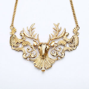 N560-Betsey-Johnson-Gold-Santa-Christmas-Deer-Necklace-US