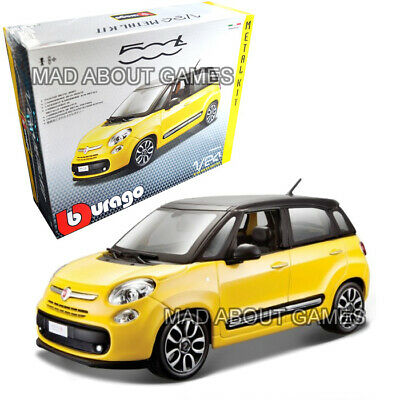 FIAT 500L 1:24 Scale Diecast KIT Model Die Cast 500 L Toy Miniature Yellow