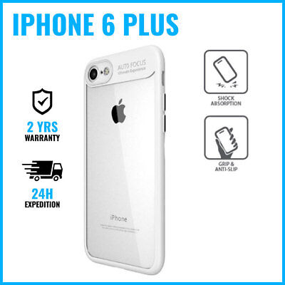 Armor Cover Cas Coque Etui Silicone Hoesje Case Black For iPhone 6 Plus White