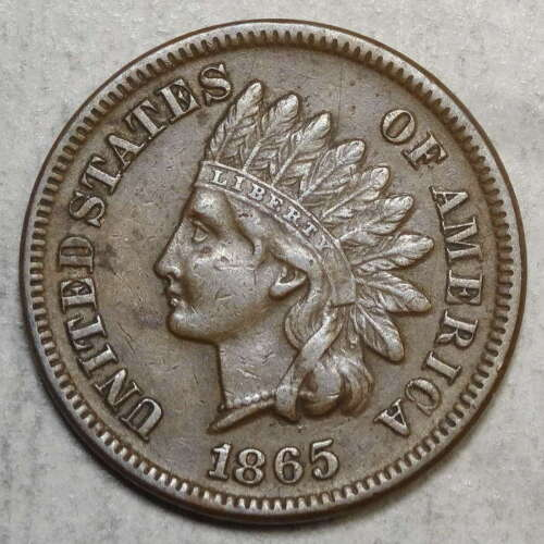 1865 Indian Cent, Plain 5, Extremely Fine, Scarce       0707-01