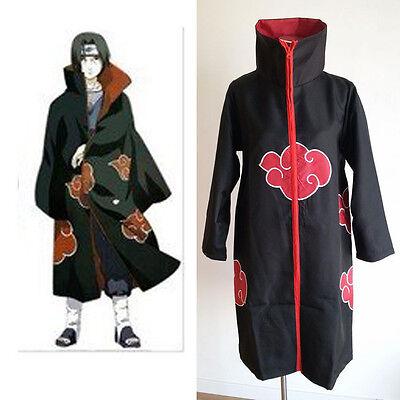 Naruto Akatsuki Itachi Uchiha Deluxe Men's Cosplay Costume Cloak Robe