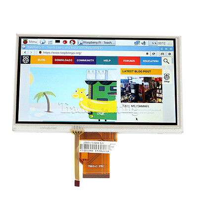 "7"" inch TFT LCD Monitor TouchScreen for Raspberry Pi + Driver HDMI VGA 2AV US"