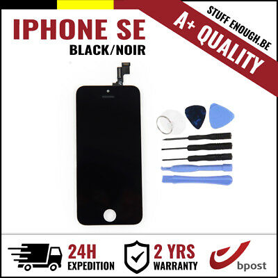 A+ LCD SCREEN DIGITIZER DISPLAY/SCHERM/ÉCRAN BLACK NOIR & TOOLS FOR IPHONE SE/5S