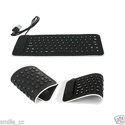 Flexible USB2.0 Mini Keyboard Silicone Foldable Laptop Notebook Keyboard Black