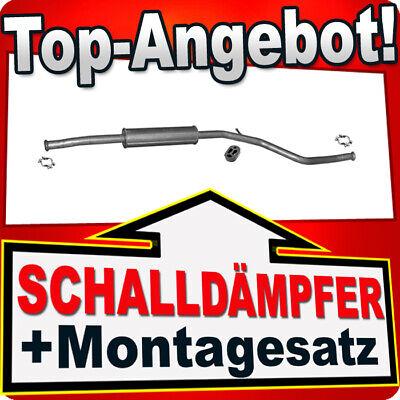 Mittelrohr Auspuff Peugeot 206 1.4i//1.6i 75PS-110PS MONTAGEWARE