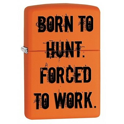 Zippo 29269, Born To Hunt-Force to Work, Orange Matte Lighter