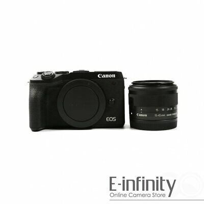 NEW Canon EOS M6 Mark II Kit with EF-M 15-45mm IS STM Lens Kit (Black)