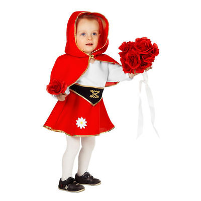 Kleinkind-Kostüm Rotkäppchen Märchenkostüm Kinderkostüm