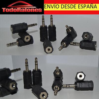 Cable ADAPTADOR de audio FINO A GORDO MINIJACK MACHO 3,5 mm JACK HEMBRA 2,5 mm segunda mano  Almendral