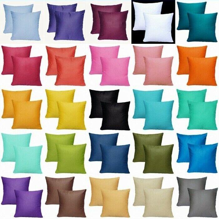 """2 Pack 18x18"""" 100% Cotton Premium Throw Pillow Case Sofa Cou"""