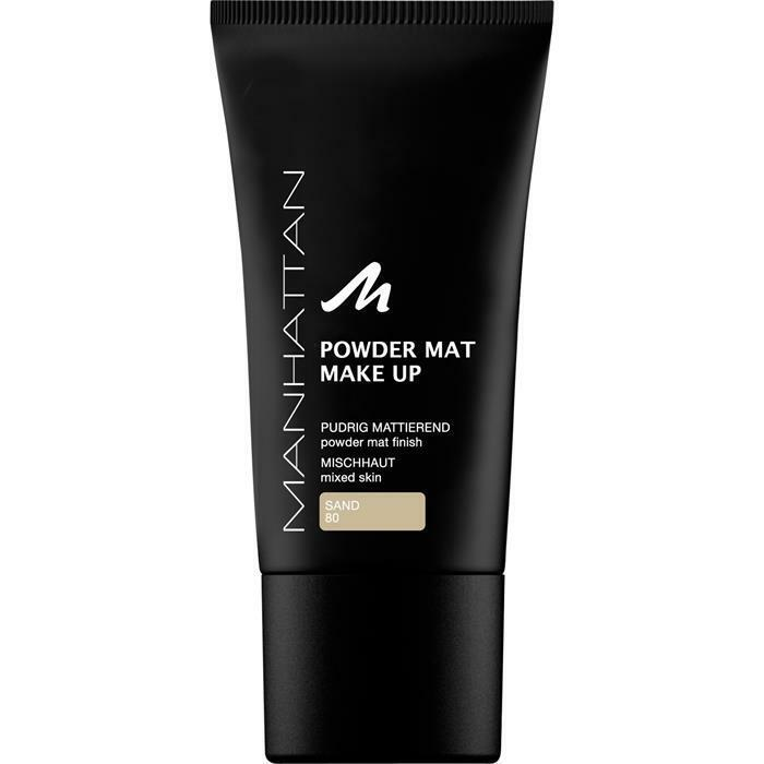 Manhattan Powder Mat Make-up Mattierendes Puder Foundation 80 Sand 30ml