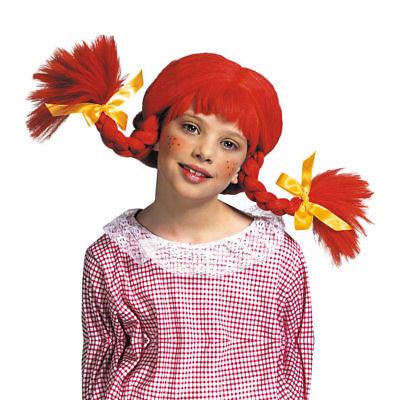 NEU Kinder-Perücke freches Mädchen, rot