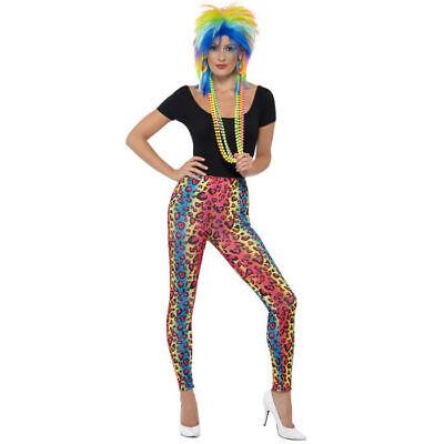 Leggings neon-bunt mit Leo-Print Einheitsgröße Leoparden Druck Hose