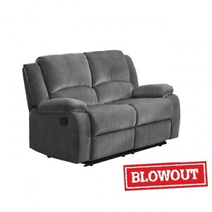 NEW! Reclining Love Seat - Available in Grey or Brown Microfiber