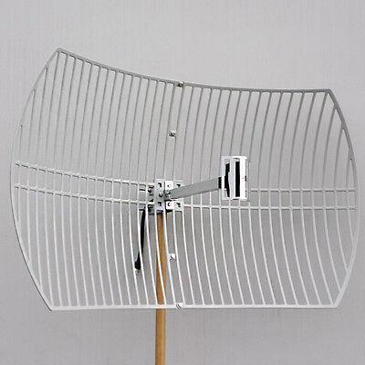 2.4GHz 802.11bgn 24dBi WiFi Parabolic Grid Antenna N Female Mounting Kits 2.4 Ghz Grid