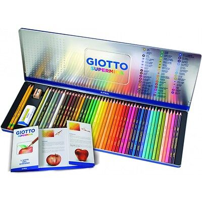 Matite Colorate FILA GIOTTO SUPERMINA 50 pezzi con 2 lapis 1 gomma 1 temperino