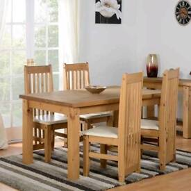 Everett Dining Set with 4 Chairs
