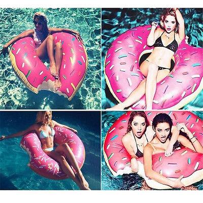 Schwimmring Donut mit Biss Luftmatratze Wasserspielzeug 120CM XXL Schwimmreifen