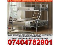 BRAND NEW Single Double Triple Metal Bunk Bed and Mattress Trio Sleeper