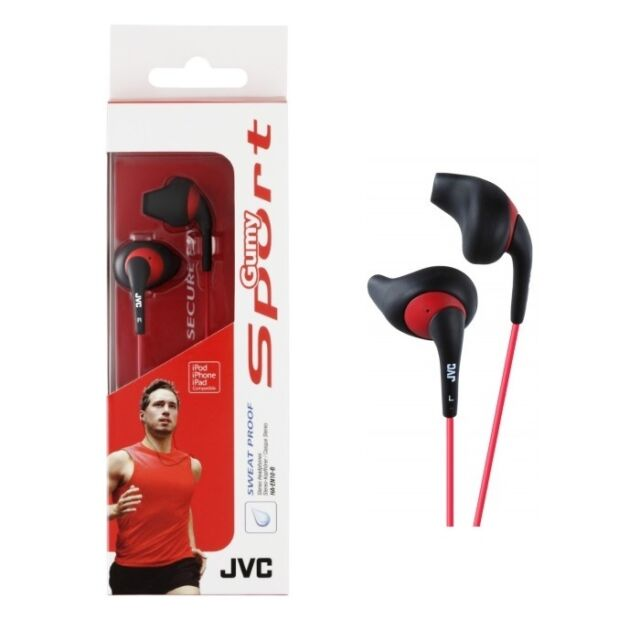 JVC Gumy HA-EN10-B Earphone Stereo Gumy Sport Earbuds HAEN10 Black /GENUINE