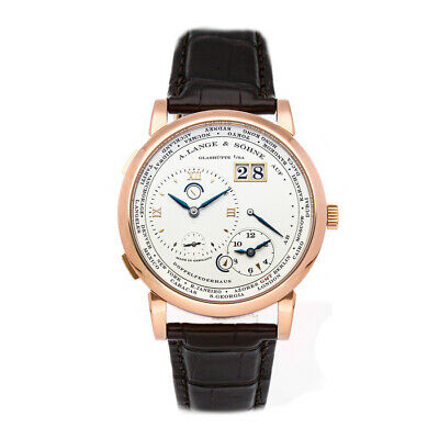 A. Lange & Sohne Lange 1 Time Zone Rose Gold Manual-Wind Mens Watch 116.032