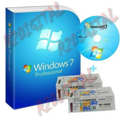 WINDOWS 7 PROFESSIONAL SP1 DVD ADESIVO COA STICKER WIN PRO PACK SEVEN 32 64 BIT ()