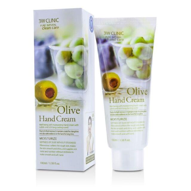 NEW 3W Clinic Hand Cream - Olive 100ml Womens Skin Care