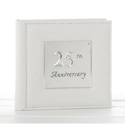 Silver Wedding Anniversary Ideas (Silver Wedding Anniversary Photo Album 25th Gift Idea)