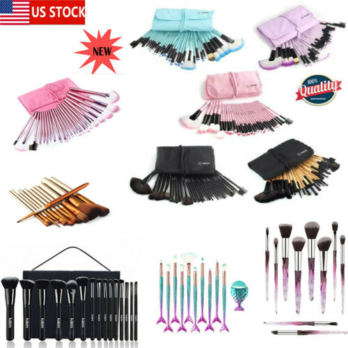 32Pcs Pro Makeup Brush Set Cosmetic Eyebrow Shadow More Colo