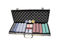 Poker set 500 Piece Complete With Casino Style Case