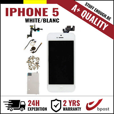 A+ LCD TOUCH SCREEN VITRE SCHERM ÉCRAN FULL ASSEMBLY WHITE BLANC FOR IPHONE 5
