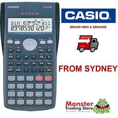 AUSSIE SELLER CASIO SCIENTIFIC CALCULATOR FX82 FX-82MS FX-82 12-MONTH WARRANTY