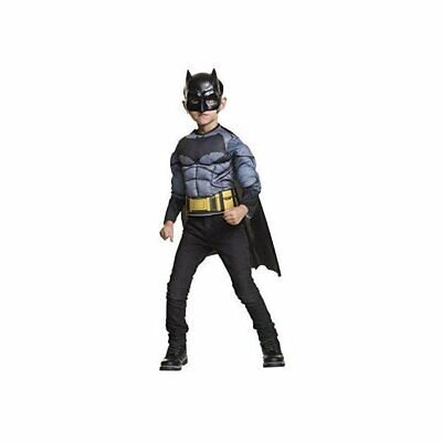 Batman Costumes Kids (Classic Batman Boy's Muscle Chest Costume Shirt w/ Cape & Mask Child Size)