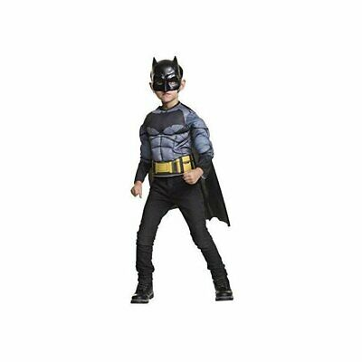 Classic Batman Boy's Muscle Chest Costume Shirt w/ Cape & Mask Child Size Small](Batman Costume Child)