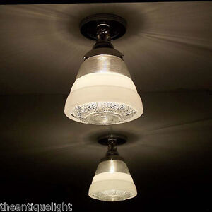 120 Vintage 30s 40s Ceiling Light Lamp Fixture Re Wired Bath Hall Porch