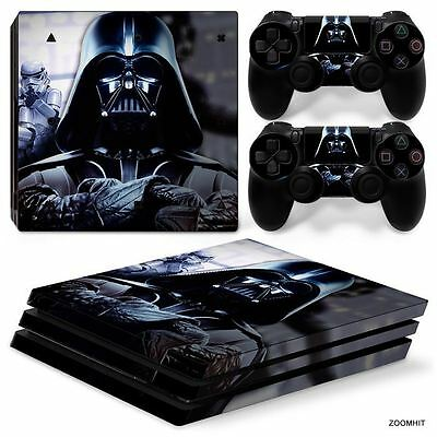 PS4 Pro Playstation 4 Console Skin Decal Sticker Star Wars Darth Vader...