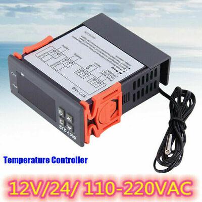 220v 12v Digital Lcd Thermostat Regulator Temperature Controller Cooling Control