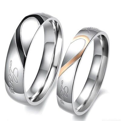 2 Partner Ringe Eheringe Partnerringe Verlobungsringe Freundschaftsringe Herz